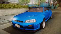 Nissan Skyline R34 14th Street para GTA San Andreas