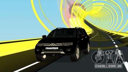 Mitsubishi Pajero чёрный para GTA San Andreas