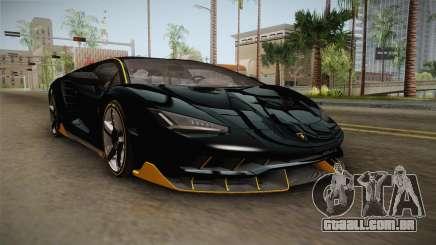 Lamborghini Centenario LP770-4 2017 Carbon PJ para GTA San Andreas