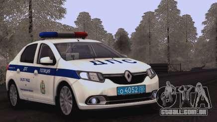 Renault Logan SOBRE a polícia de trânsito para GTA San Andreas