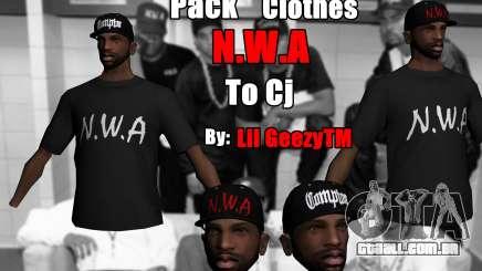 Pack Clothes N.W.A To Cj HD para GTA San Andreas