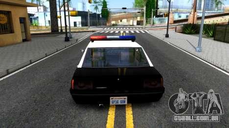 Vincent Cop para GTA San Andreas traseira esquerda vista