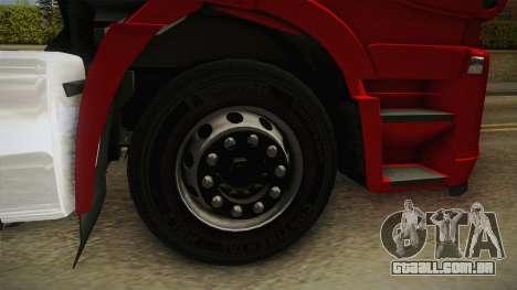 Iveco Stralis Hi-Way 560 E6 6x4 v3.1 para GTA San Andreas vista traseira