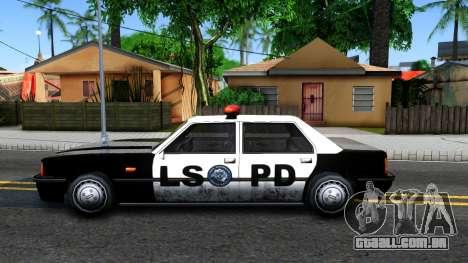 Vincent Cop para GTA San Andreas esquerda vista