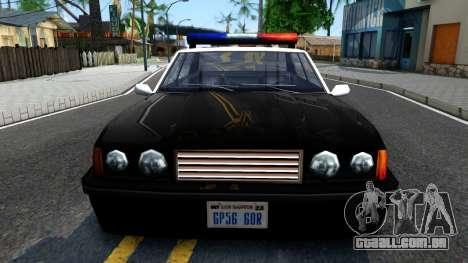 Vincent Cop para GTA San Andreas vista interior
