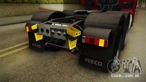 Iveco Stralis Hi-Way 560 E6 6x4 v3.1 para GTA San Andreas interior