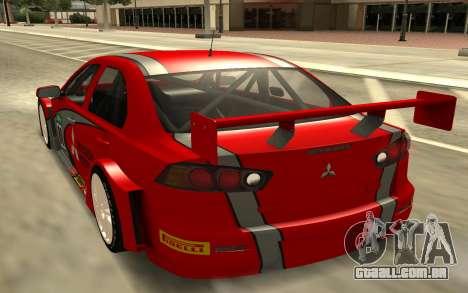 Mitsubishi Lancer para GTA San Andreas traseira esquerda vista