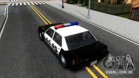 Vincent Cop para GTA San Andreas vista traseira