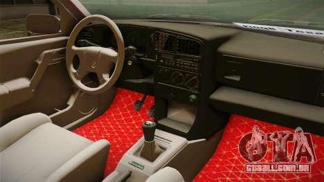 Volkswagen Passat B3 GT 2.0 para GTA San Andreas vista interior
