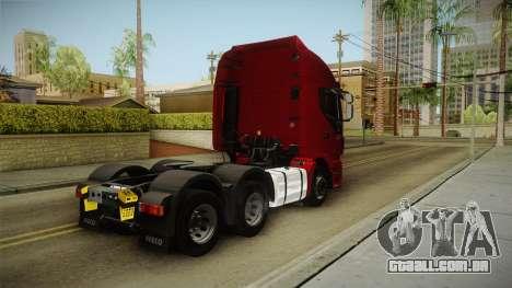 Iveco Stralis Hi-Way 560 E6 6x4 v3.1 para GTA San Andreas traseira esquerda vista
