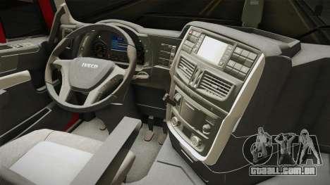 Iveco Stralis Hi-Way 560 E6 6x4 v3.1 para GTA San Andreas vista interior