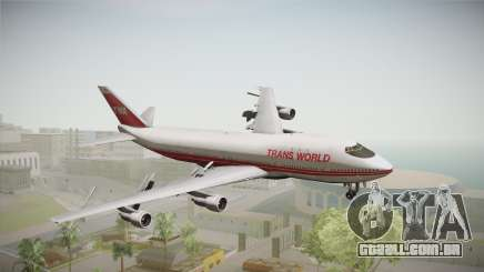 Boeing 747 TWA Solid Titles Livery para GTA San Andreas