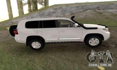 Toyota Land Cruiser 205 para GTA San Andreas esquerda vista