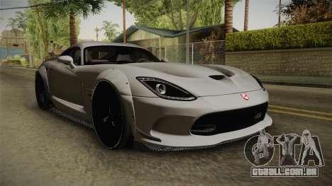 Dodge Viper SRT Tuned para GTA San Andreas vista direita