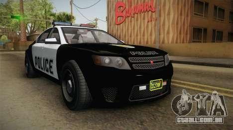 GTA 5 Cheval Fugitive Police IVF para GTA San Andreas