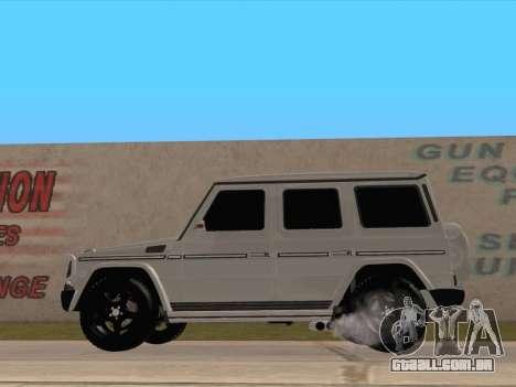 Mercedes-Benz G65 AMG 2012 para GTA San Andreas esquerda vista