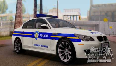 BMW M5 Croatian Police Car para GTA San Andreas vista inferior