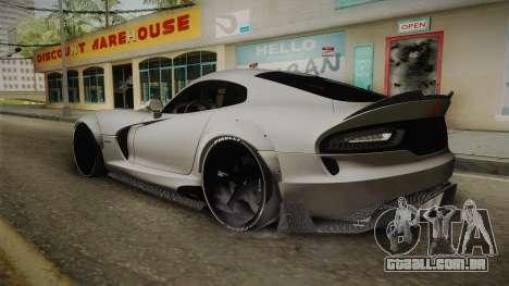 Dodge Viper SRT Tuned para GTA San Andreas esquerda vista