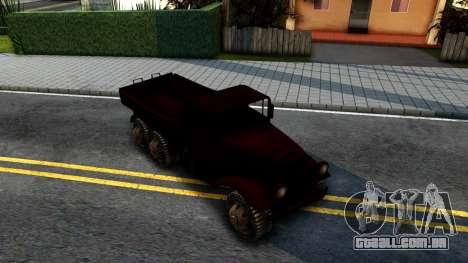 Broken Military Truck para GTA San Andreas