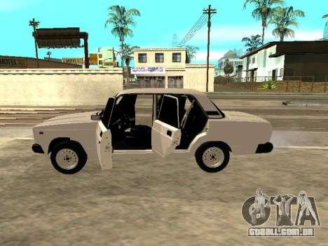 VAZ 2107 Armenian para GTA San Andreas vista direita