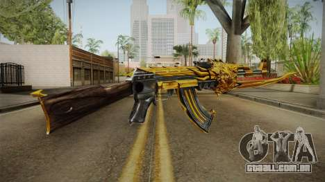 Cross Fire - AK-47 Beast Noble Gold v1 para GTA San Andreas