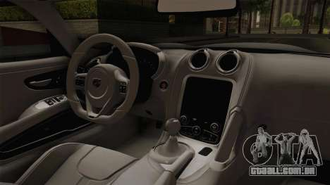 Dodge Viper SRT Tuned para GTA San Andreas vista interior