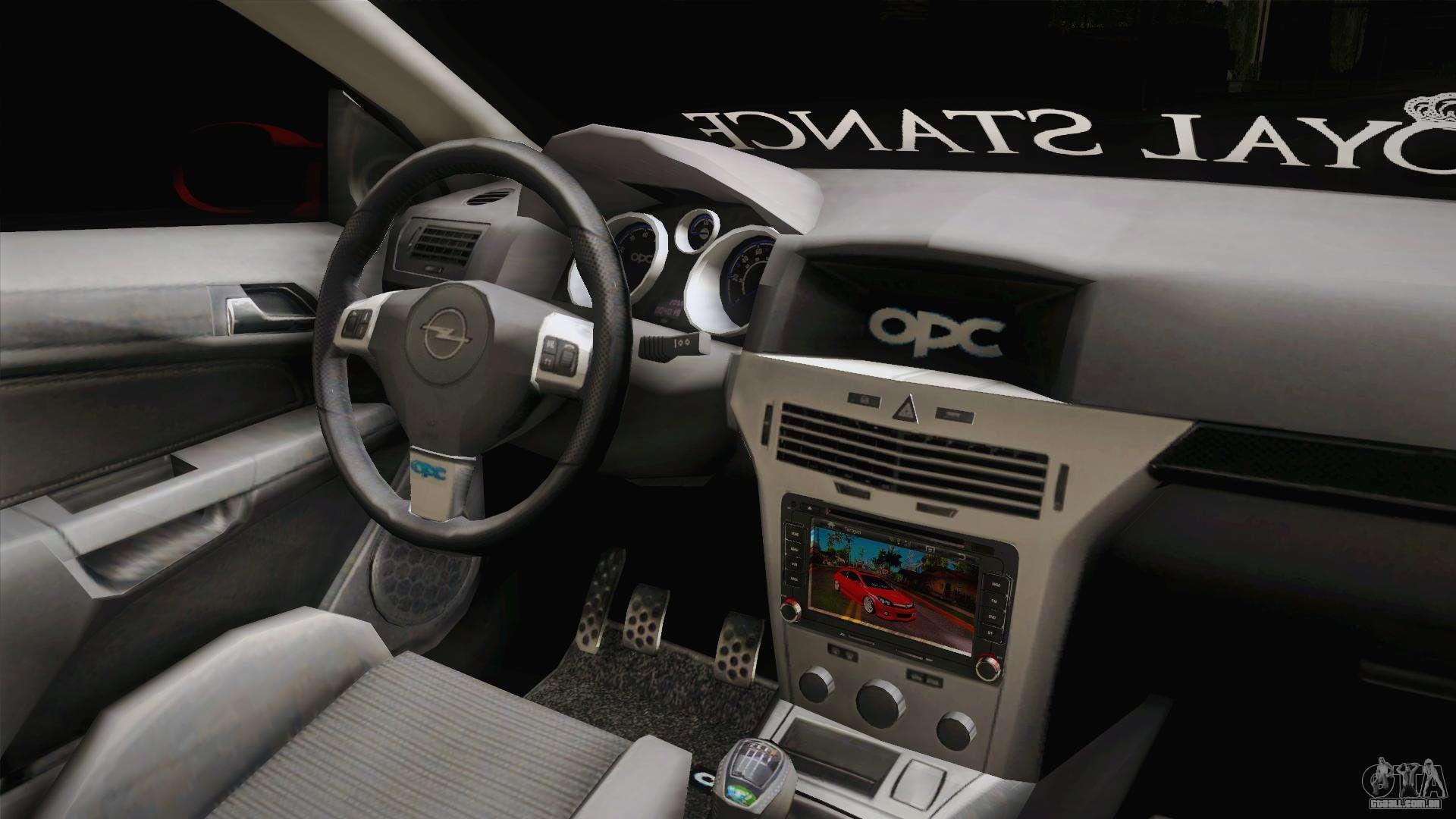 Opel astra h opc para gta san andreas for Interieur astra h opc