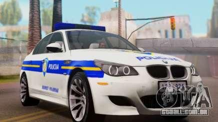 BMW M5 Croatian Police Car para GTA San Andreas