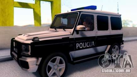 A Mercedes-Benz G65 AMG BIH Carro de Polícia para GTA San Andreas
