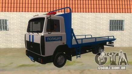 MAZ caminhão de Reboque Polícia para GTA San Andreas