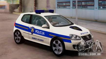 Golf V Croata Carro De Polícia para GTA San Andreas