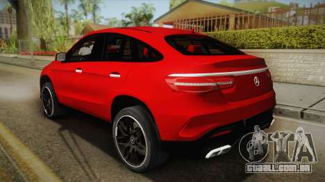 Mercedes-Benz GLE 63 AMG para GTA San Andreas