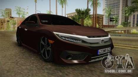 Honda Civic 2017 FC5 para GTA San Andreas vista direita