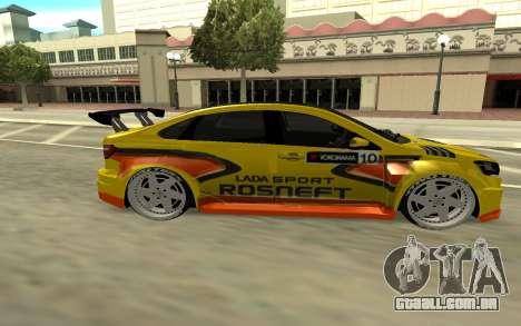Lada Vesta WTCC para GTA San Andreas vista traseira