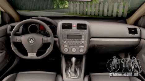 Volkswagen Golf V BIH Police Car V2 para GTA San Andreas vista interior