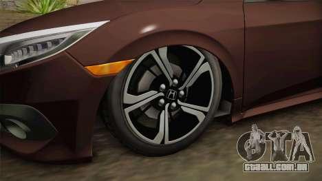 Honda Civic 2017 FC5 para GTA San Andreas vista traseira