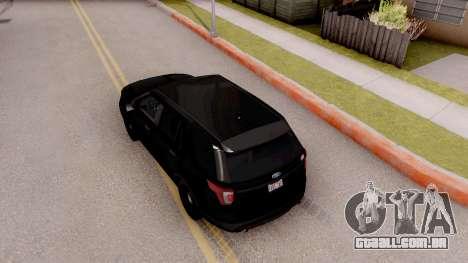 Ford Explorer FBI para GTA San Andreas vista traseira