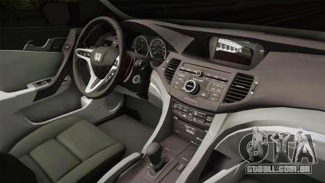 Honda Civic 2017 FC5 para GTA San Andreas vista interior