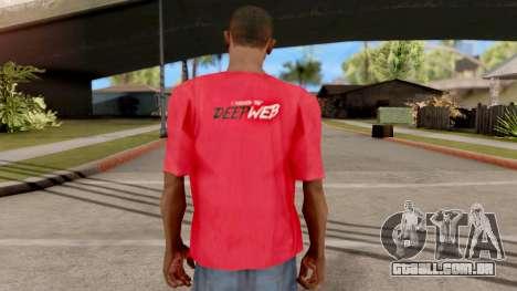 Deep Web T-Shirt para GTA San Andreas