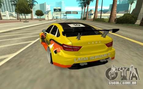 Lada Vesta WTCC para GTA San Andreas traseira esquerda vista