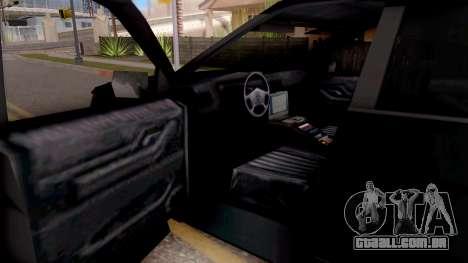 Ford Explorer FBI para GTA San Andreas vista interior