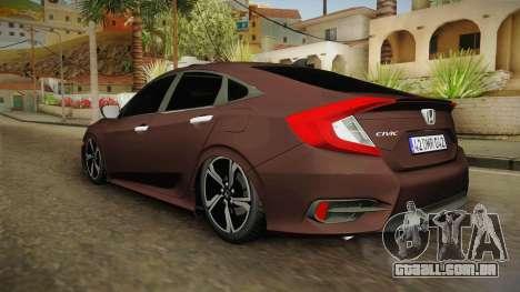 Honda Civic 2017 FC5 para GTA San Andreas esquerda vista