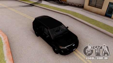 Ford Explorer FBI para GTA San Andreas vista direita
