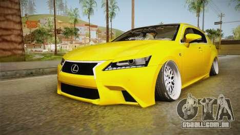 Lexus GS350 F Sport IV Slammed 2013 para GTA San Andreas