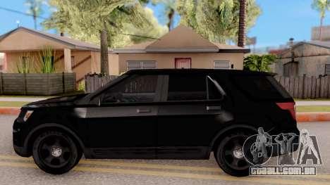 Ford Explorer FBI para GTA San Andreas esquerda vista