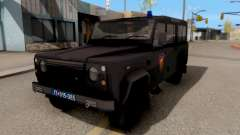 Land Rover Defender Polícia, Que para GTA San Andreas