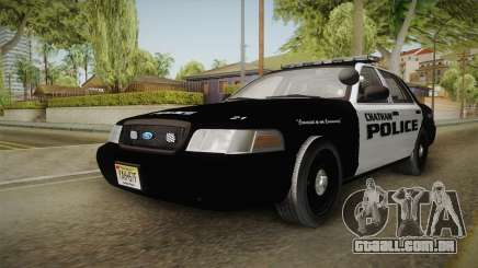 Ford Crown Victoria 2009 Chatham, New Jersey PD para GTA San Andreas