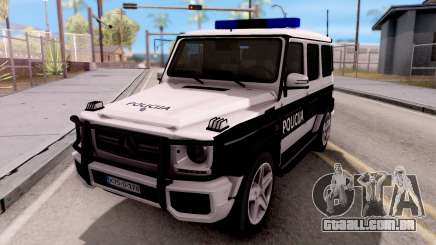 Mercedes-Benz G65 AMG BIH Police Car para GTA San Andreas