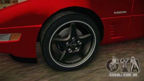 Chevrolet Corvette C4 FBI 1996 para GTA San Andreas vista traseira