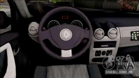 Renault Duster Spanish Police para GTA San Andreas vista interior